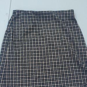 H&M Plaid Midi Skirt